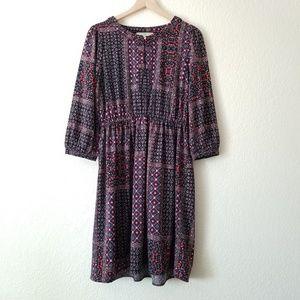 LOFT Long Sleeve Dress Ann Taylor